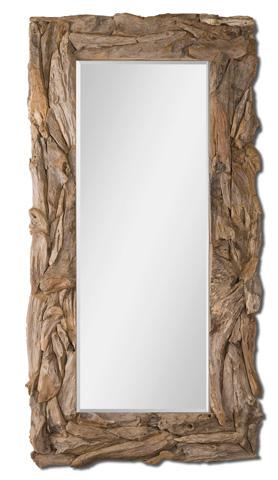 Uttermost Company - Teak Root Rectangular Floor Mirror - 05027