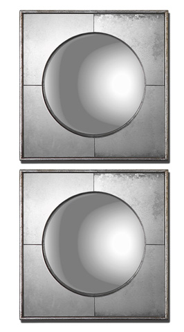 Uttermost Company - Savio Circle in Square Mirrors - 12829