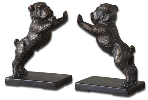 Uttermost Company - Bulldog Bookends - 19643