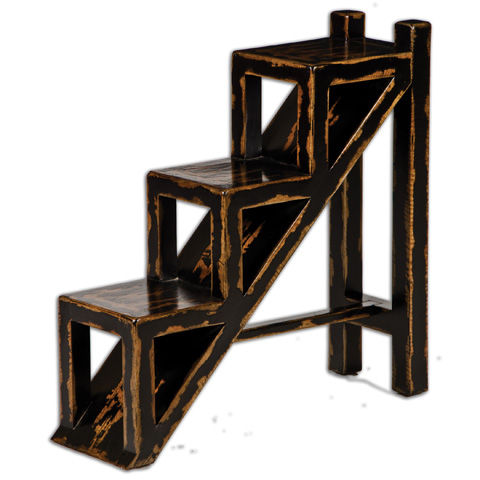 Uttermost Company - Asher Black Accent Table - 25523