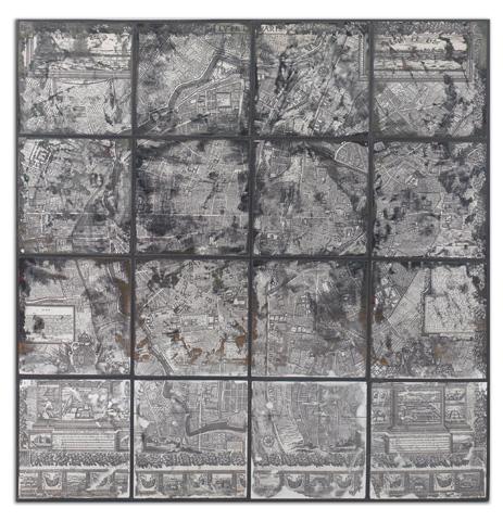 Uttermost Company - Antique Paris Map Wall Art - 55005