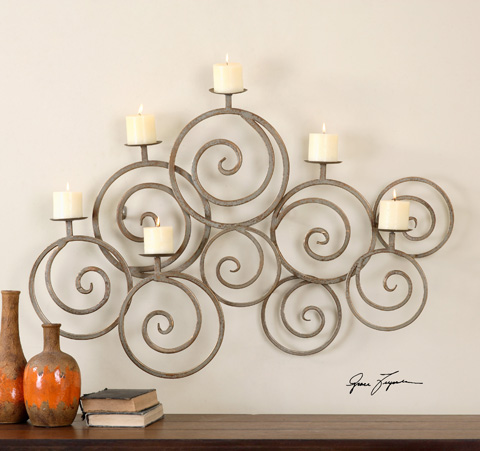 Uttermost Company - Fabricia Wall Sconce - 07686