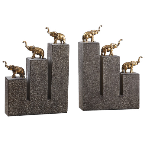 Uttermost Company - Elephant Bookends - 19979