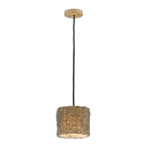 Uttermost Company - Knotted Rattan Light Mini Hanging Pendant - 21837