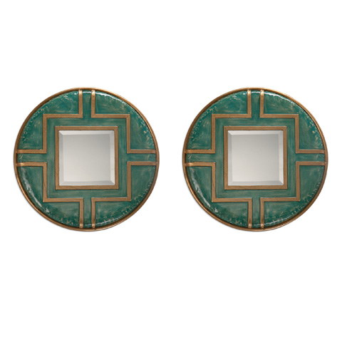 Uttermost Company - Amina Rounds Wall Mirrors-Set of Two - 09069