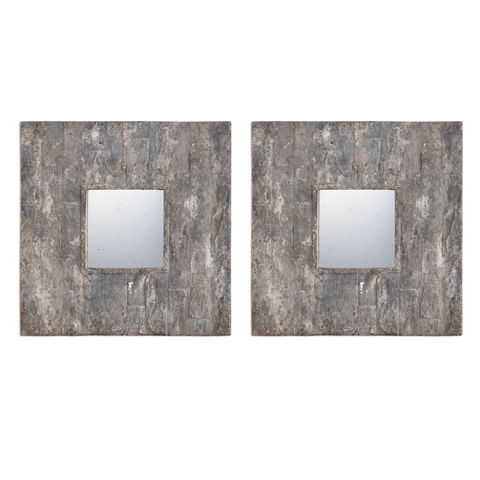 Uttermost Company - Piera Squares Wall Mirrors-Set of Two - 09088