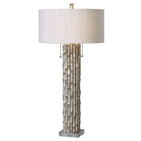 Uttermost Company - Silver Bamboo Table Lamp - 27177-1