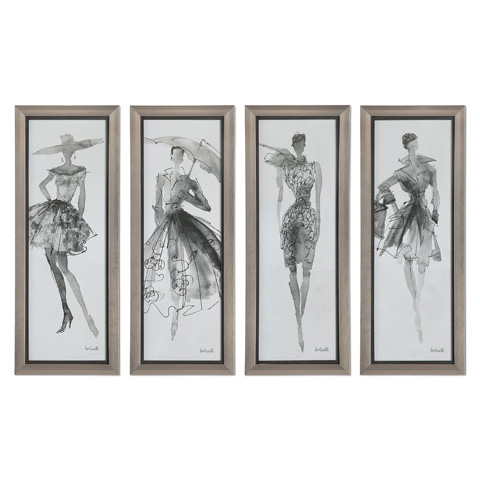Uttermost Company - Fashion Sketchbook Art-Set of Four - 33624