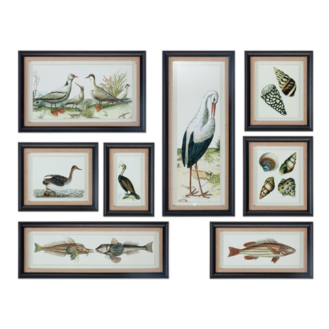 Uttermost Company - Seashore Collage Art-Set of Eight - 33631