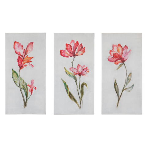 Uttermost Company - Springtime Promise Art-Set of Three - 35331