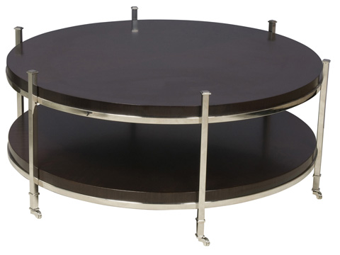 Vanguard Furniture - Round Cocktail Table with Casters - W387C-ES