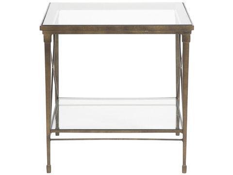 Vanguard - Hardin Lamp Table with Glass Top - P426L