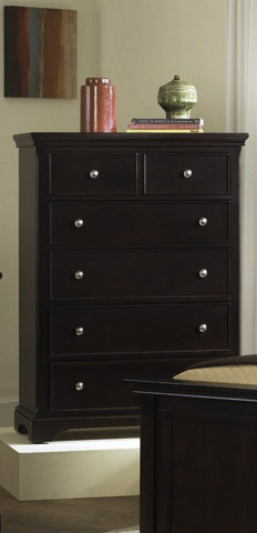 Image of Merlot Five Drawer Dressing Chest