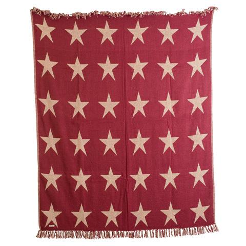 Image of Burgundy Star Throw