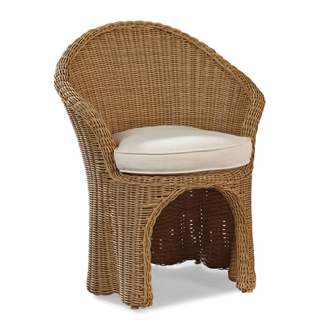 Image of Crespi Wave - Celerie Barrel Dining Chair
