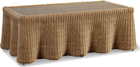 Image of Crespi Wave - Celerie Rectangular Cocktail Table