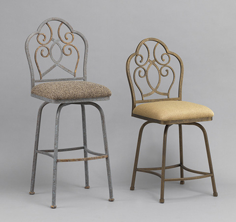Wesley Allen - Armstrong Iron Barstool - B213H30