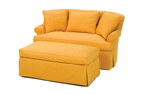 Wesley Hall, Inc. - Skirted Settee - 1406-70