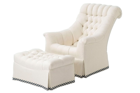 Wesley Hall, Inc. - Rolled Back Club Chair - 642