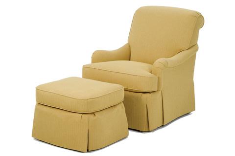 Wesley Hall, Inc. - Waterfall Skirt Club Chair - 756