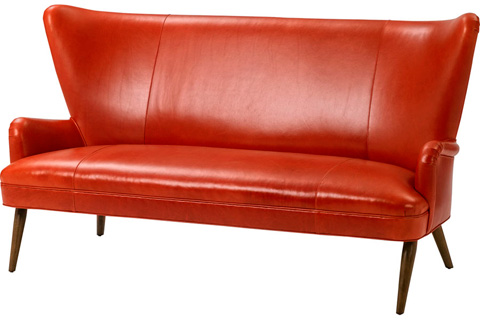 Wesley Hall, Inc. - Wing Back Settee - L1940-75