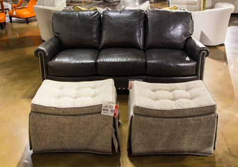 Image of Barringer Leather Sofa
