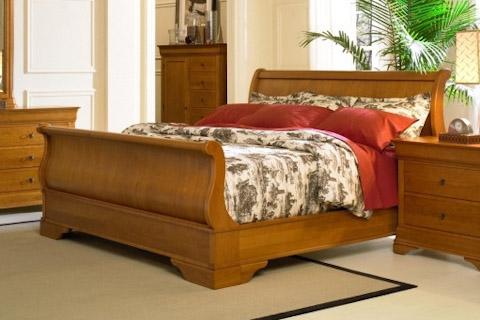 Image of Queen Cherry Sleigh Bed