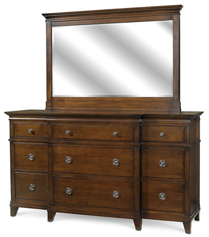 Image of Nine Drawer Breakfront Dresser