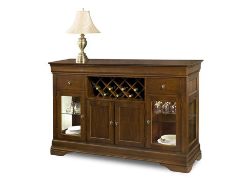 West Bros - Credenza with Wine Package - 138-117LW