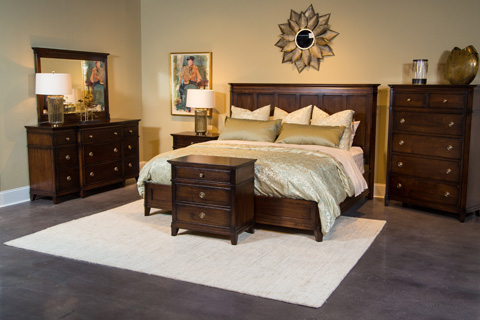 Image of Newbury Street Collection Queen Panel Bedroom Set
