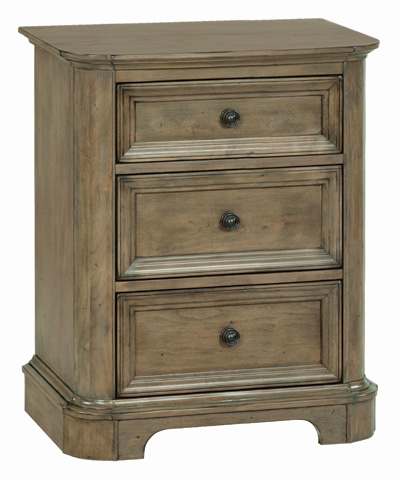 Whitter Wood Furniture - Three Drawer Stonewood Nightstand - 1111RGB