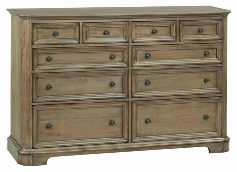 Whitter Wood Furniture - Ten Drawer Stonewood Dresser - 1187RGB