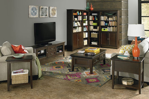 Whittier Wood Furniture - McKenzie Alder Bookcase - 1524AECAF