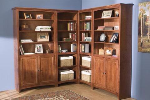 Whittier Wood Furniture - McKenzie Alder Bookcase - 1524AEGAC