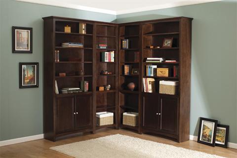 Whittier Wood Furniture - McKenzie Alder Bookcase - 1546AECAF