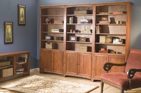 Whittier Wood Furniture - McKenzie Alder Bookcase - 1546AEGAC