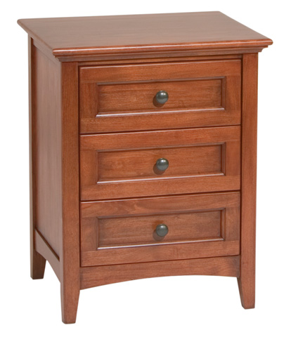 Image of Three Drawer McKenzie Nightstand