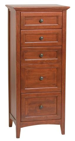 Whittier Wood Furniture - Five Drawer McKenzie Lingerie Chest - 1121GAC