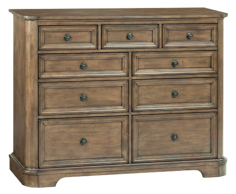Whittier Wood Furniture - Nine Drawer Stonewood Dresser - 1186RGB