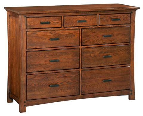 Whitter Wood Furniture - Nine Drawer Prairie City Dresser - 1220DAO
