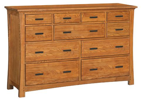 Whittier Wood Furniture - Ten Drawer Prairie City Dresser - 1221LSO