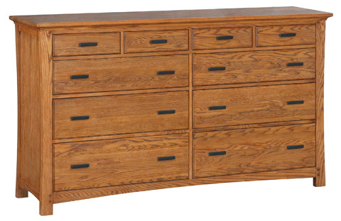Whittier Wood Furniture - Prairie City Master Dresser - 1222LSO