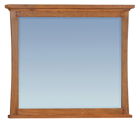 Whitter Wood Furniture - Prairie City Beveled Mirror - 1295LSO
