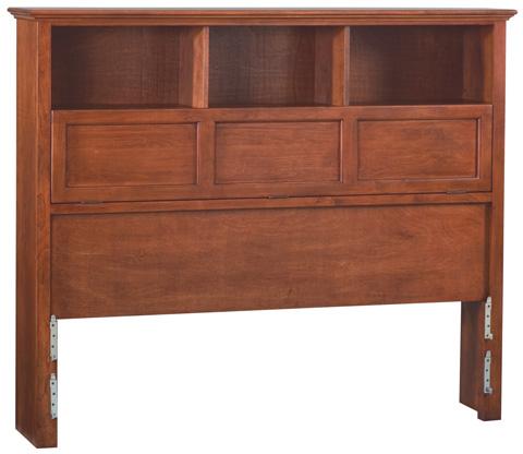 Whittier Wood Furniture - McKenzie Queen Bookcase Headboard - 1372GAC