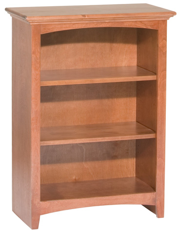Whittier Wood Furniture - McKenzie Alder Bookcase - 1521AEGAC