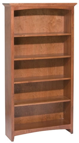 Whittier Wood Furniture - McKenzie Alder Bookcase - 1533AEGAC