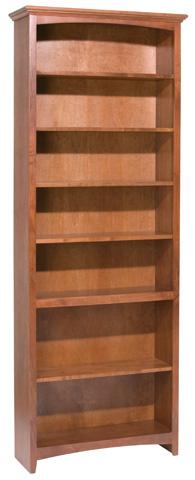 Whitter Wood Furniture - McKenzie Alder Bookcase - 1536AEGAC