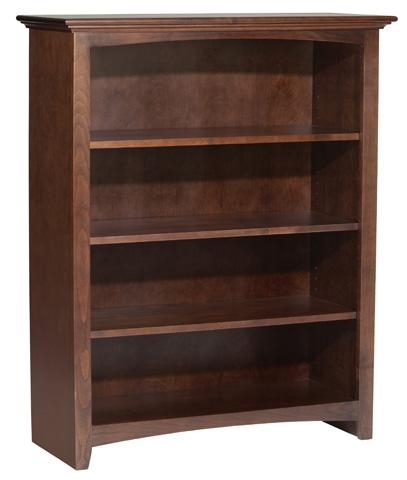 Whittier Wood Furniture - McKenzie Alder Bookcase - 1542AECAF