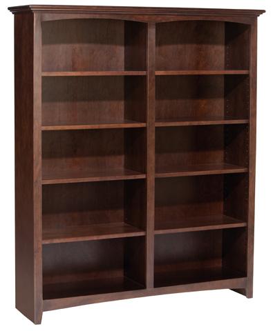 Whittier Wood Furniture - McKenzie Alder Bookcase - 1553AECAF