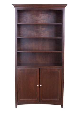 Whittier Wood Furniture - Center Wall Unit with Doors - 1611AECAF